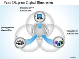 0314 Business Ppt Diagram Venn Diagram Digital Illustration Powerpoint Template