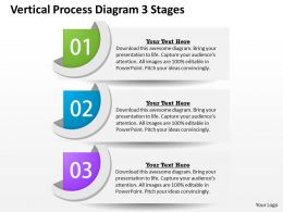 0314 Business Ppt Diagram Vertical Process Diagram 3 Stages Powerpoint Template