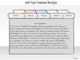 0314 Business Ppt Diagram Web Style Statistical Analysis Powerpoint Template