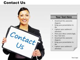 0314 Business Woman With Contact Us