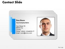 0314 Contact Slide On Internet Stock Photo