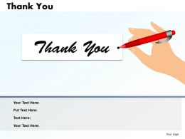 0314 Layout Of Thank You Slide