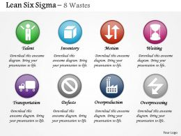 0314 Lean Six Sigma Eight Types of Waste Powerpoint Presentation