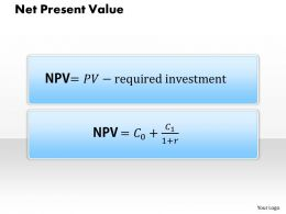 0314 Net Present Value Powerpoint Presentation