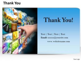 0314 Thank You Slide With Contact Details
