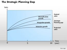 0314 The Strategic Planning Gap Powerpoint Presentation