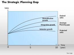 0314 The Strategic Planning Gap Powerpoint Presentation