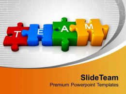0413 3d Colorful Team Puzzle PowerPoint Templates PPT Themes And Graphics
