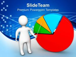 0413 3d Man Presenting Business Chart PowerPoint Templates PPT Themes And Graphics