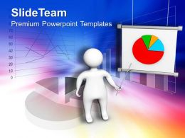 0413 3d Man Presenting Business Chart Sales PowerPoint Templates PPT Themes And Graphics