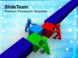 0413 3d Man Teamwork Business Strategy PowerPoint Templates PPT Themes And Graphics