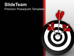 0413 3d Of Three Arrows In Target PowerPoint Templates PPT Themes And Graphics