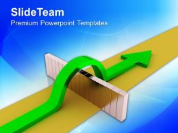 0413 Arrow Overcomes Obstacles To Success PowerPoint Templates PPT Themes And Graphics