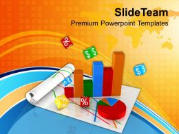 0413 Bar Graph Pie Chart Business Growth PowerPoint Templates PPT Themes And Graphics