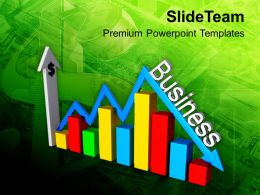 0413 Bar Graph With Arrow Business Ups And Downs PowerPoint Templates PPT Themes And Graphics