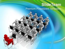 0413 Be A Leader In Meetings PowerPoint Templates PPT Themes And Graphics