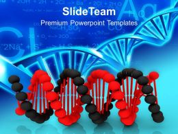 0413 Black And Red DNA For Medical Theme PowerPoint Templates PPT Themes And Graphics