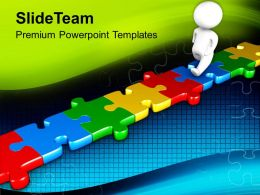 0413 Business Concept With Jigsaw Puzzles PowerPoint Templates PPT Themes And Graphics