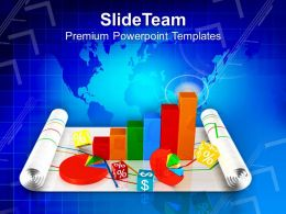 0413 Business Graph With Pie Marketing PowerPoint Templates PPT Themes And Graphics