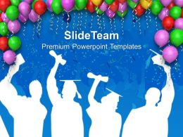 0413 Decoration With Balloons Party Theme PowerPoint Templates PPT Themes And Graphics