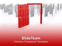 0413 Find The Right Door Of Success PowerPoint Templates PPT Themes And Graphics