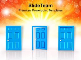 0413 Hardwork Will Open The Door Of Success PowerPoint Templates PPT Themes And Graphics