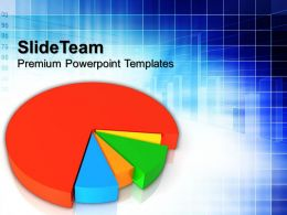 0413 Pie Chart Business Result PowerPoint Templates PPT Themes And Graphics