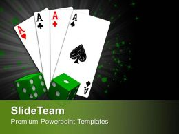 0413 Playing Card With Dices Business PowerPoint Templates PPT Themes And Graphics