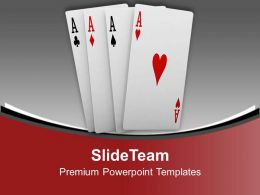 0413 Playing Cards Sports Theme PowerPoint Templates PPT Themes And Graphics