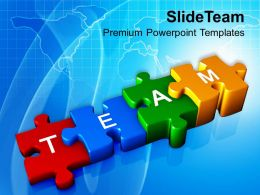 0413 Stepping Jigsaw Puzzle Teamwork Business Strategy PowerPoint Templates PPT Themes And Graphics