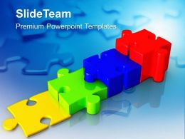 0413 Stepping Jigsaw Puzzles Business PowerPoint Templates PPT Themes And Graphics