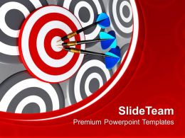 0413 Target With Three Arrows Success Theme PowerPoint Templates PPT Backgrounds For Slides
