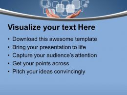0413 Touch The Technology PowerPoint Templates PPT Themes And Graphics