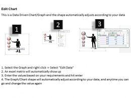 0414 3d Man Bubble Chart Illustration PowerPoint Graph