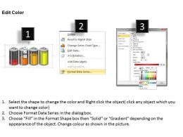 0414 4 Staged Battery Column Chart PowerPoint Graph