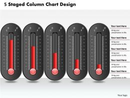0414 5 Staged Column Chart Design PowerPoint Graph