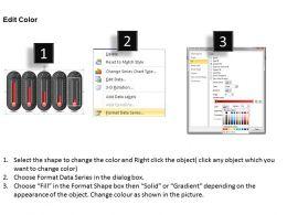0414 5 Staged Column Chart Design PowerPoint Graph