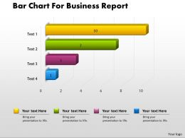 0414 Bar Chart For Business Report PowerPoint Graph