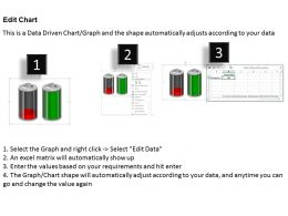 0414 Battery Graphics Column Chart 2 Stages PowerPoint Graph