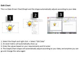0414 Brilliant Idea Bar Chart Illustration Powerpoint Graph
