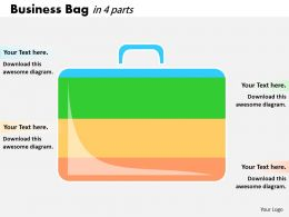 0414 Business Bag Illustration Bar Chart Powerpoint Graph