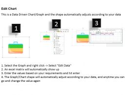 0414 Business Bag Illustration Bar Chart Powerpoint Graph