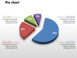 0414 Business Comparison Pie Chart Powerpoint Graph