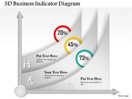 0414 Business Consulting Diagram 3d Business Indicator Diagram Powerpoint Slide Template