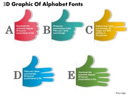 0414 Business Consulting Diagram 3d Graphic Of Alphabet Fonts Powerpoint Slide Template