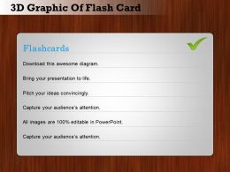 0414 Business Consulting Diagram 3d Graphic Of Flash Card Powerpoint Slide Template