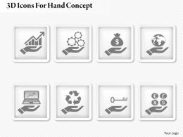0414 Business Consulting Diagram 3d Icons For Hand Concept Powerpoint Slide Template