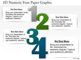 0414 Business Consulting Diagram 3d Numeric Font Paper Graphic Powerpoint Slide Template