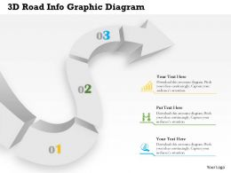 0414 Business Consulting Diagram 3d Road Info Graphic Diagram Powerpoint Slide Template