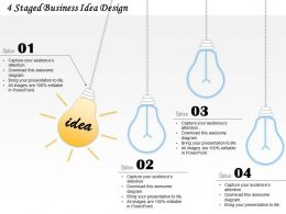 0414 Business Consulting Diagram 4 Staged Business Idea Design Powerpoint Slide Template